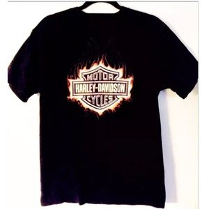 Harley Davidson M Shirt Flame Salt Lake City Utah
